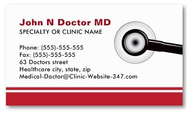 Doctor Business Card Template by Sle Of Business Cards For Doctors Choice Image Card