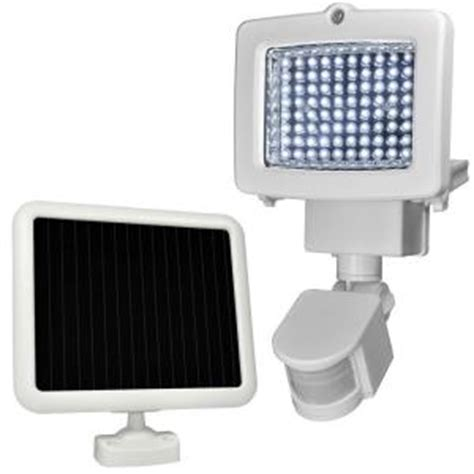 sunforce outdoor white solar 80 led motion light 82080