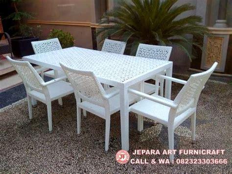 1 Set Kursi Teras Kursi Taman Kursi Cafe dijual harga murah meja rotan sintetis 6 kursi matahari