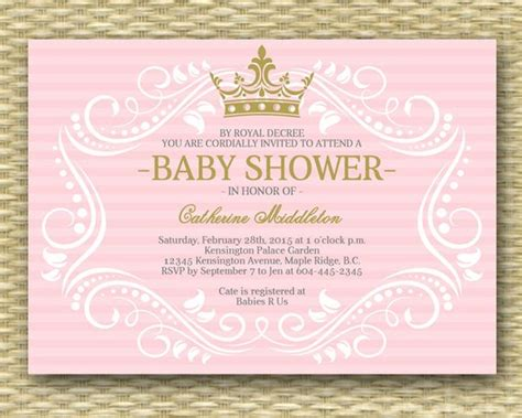 Royal Princess Baby Shower Invitation Little Princess Baby Princess Baby Shower Invitations Templates