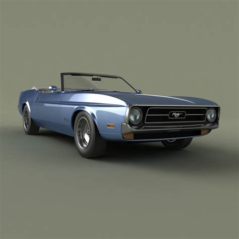 1971 mustang shelby shelby mustang convertible 1971 3d model max obj 3ds