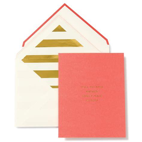 Kate Spade Cards - kate spade coral pink make history greeting card by kate spade
