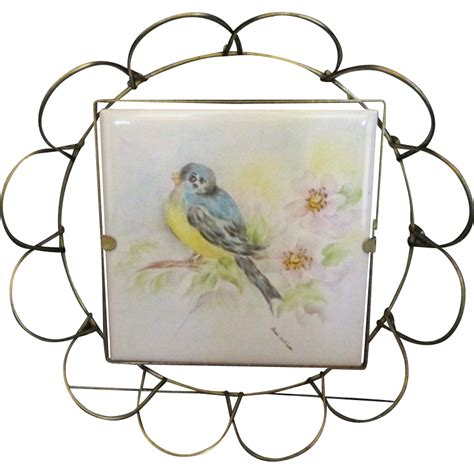 villeroy und boch mettlach villeroy and boch mettlach painted tile from
