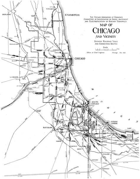 chicago rail map file 1913 chicago railroads jpg wikimedia commons