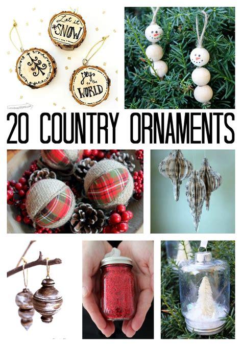 country christmas ornaments  diy ideas