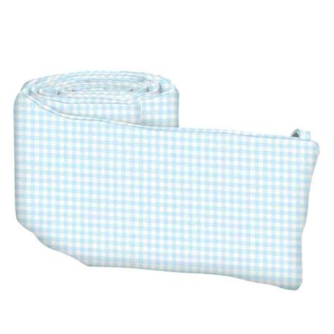 Gingham Crib Bumper by Blue Gingham Jersey Knit Crib Bumpers Sheetworld