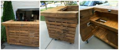 Free Woodworking Plans Patio Furniture by Backyard Pallet Bar 1001 Pallets
