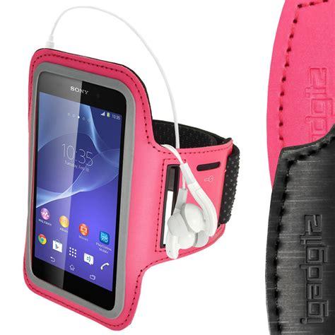 Running 0898 Casing For Sony Xperia M4 Aqua Hardcase 2d igadgitz reflective anti slip pink sports armband for sony xperia m4 aqua with key