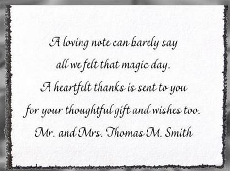 thank you notes for wedding gifts templates 25 best ideas about thank you card wording on