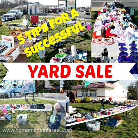 What Sells At Garage Sales by 5 Tips For A Successful Yard Sale Home Made Interest