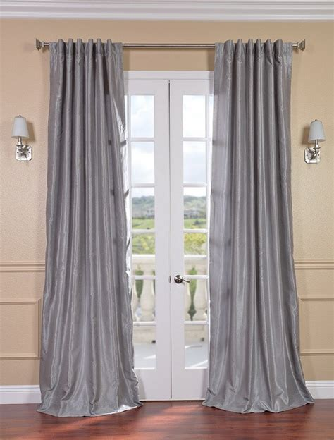 silver silk curtains silver vintage textured faux dupioni silk curtains
