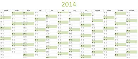 Calendrier Annuel 2014 Calendrier 2014 224 T 233 L 233 Charger Gratuitement Au Format Excel