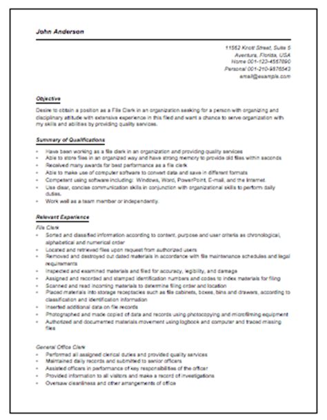 Resume Sles For Accounts Payable Accounts Payable Clerk Resume Berathen