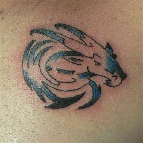capricorn tattoo hd tribal capricorn tattoo blue black color tattoos