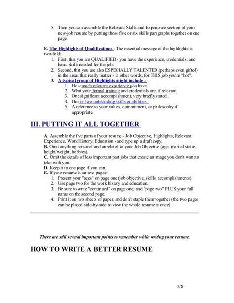 write resume trunk