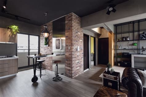 inspired apartment with industrial touches stylish bachelor pad industrial style apartment