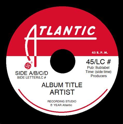 Cd Atlantic atlantic records label template 2 by tjsworld2011 on deviantart