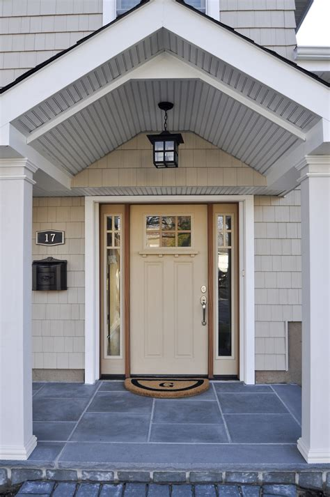 Front Door Extension New Shed Roof Extension W Portico Front Door Enlarged Front Door With Sidelights And