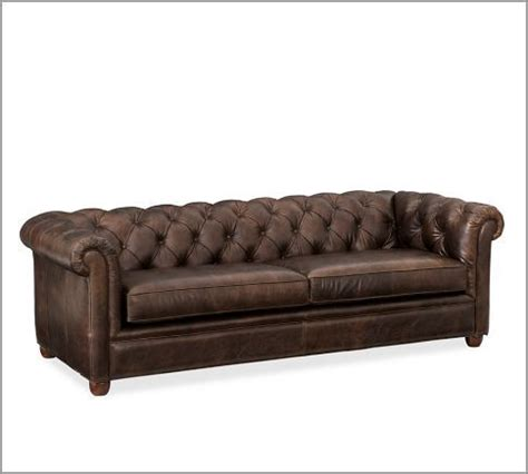 chesterfield leather sofa pottery barn to my home