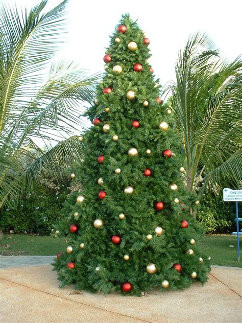 giant artificial christmas trees