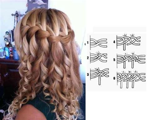 trenza cascada paso a paso waterfall braid o la trenza de cascada perfect for any