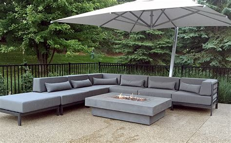 Modern Patio Furniture Patio Sofa Tuxedo Corner
