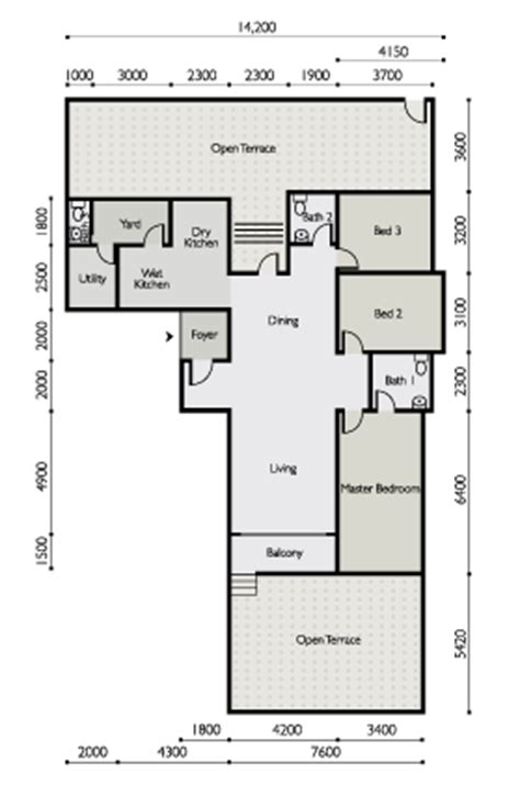 Small Modern House Plans One Floor the light waterfront penang the light linear