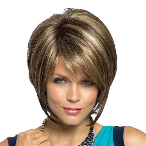different hairstyles of an elevated bob hairstyle stacked haircut with bangs haircuts models ideas