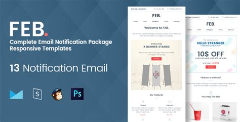 Dimo 16 Email Notification Template Set Access notification templates theme