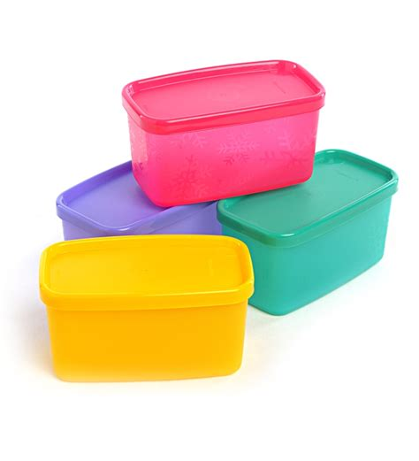 Kitchen Storage Canisters Sets by Tupperware Cool Square Half Set Of 4 By Tupperware