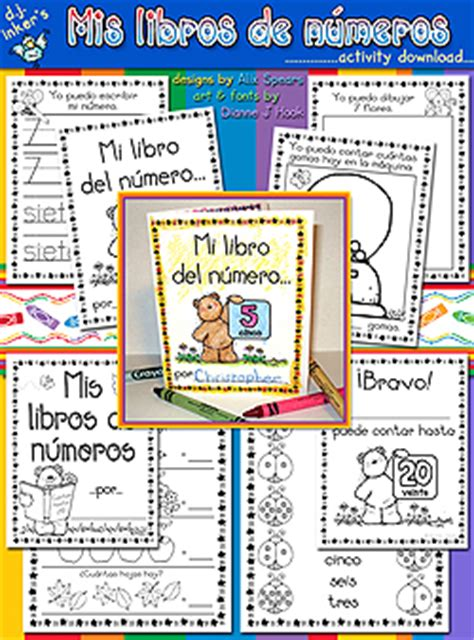 libro start spanish learn spanish kids can learn numbers in spanish with these great printable books created with dj inker s clip