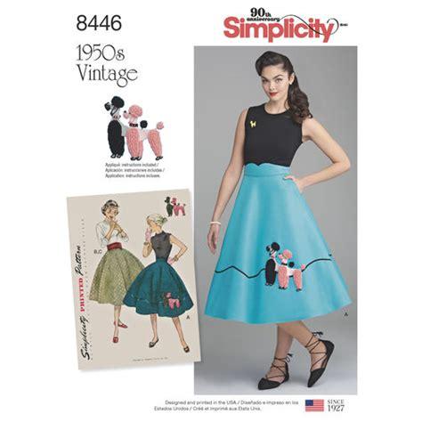 vintage pattern simplicity pattern 8446 misses vintage skirt and cummerbund simplicity