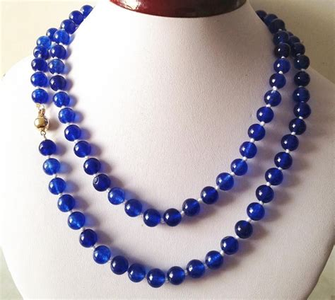 8 Necklaces To Give To Your by 2017 Beautiful Blue 8mm Chalcedony Necklace Rope