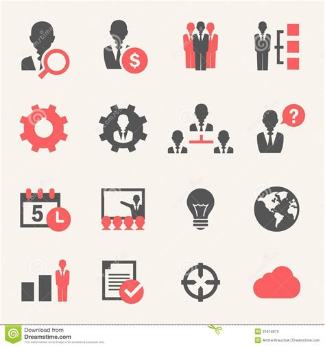 Vector Business Icons Set Royalty Free Stock Photos Image 1095468 Business Icon Set Stock Vector Illustration Of Image Inspiration 31614875
