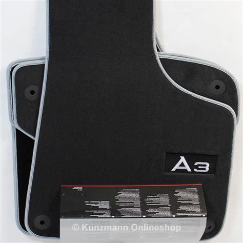 genuine audi a3 car mats premium velor floor mats with logo a3 genuine audi a3 8p