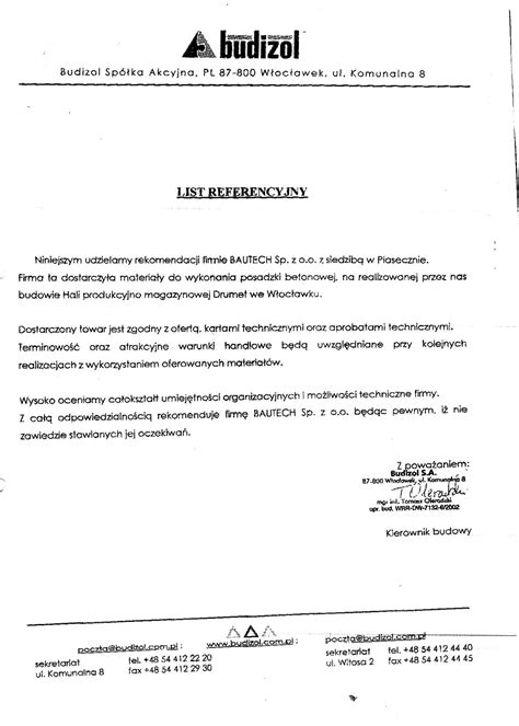 Reference Letter General Contractor General Contractor Recommendation Letter Quotes