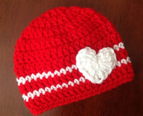 valentines hats s day crochet hat with applique crochet