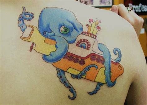 yellow submarine tattoo octopus yellow submarine beatles tattoos