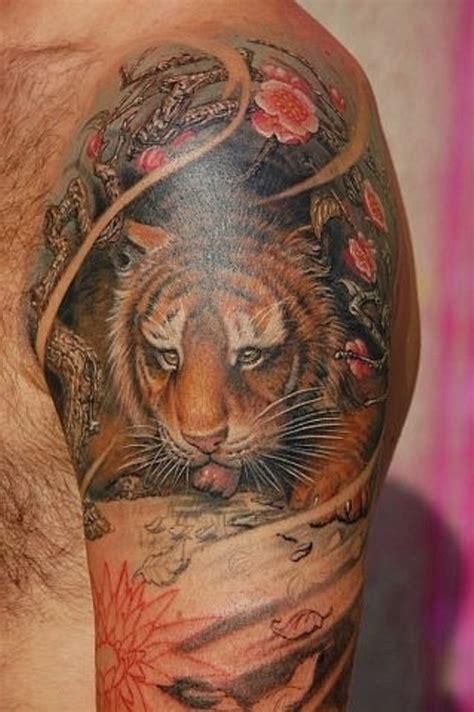 tiger shoulder tattoo 53 outstanding tiger shoulder tattoos