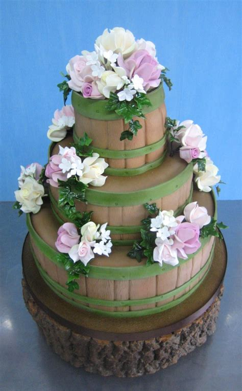 barrel cake barrel wedding cake a wedding cake