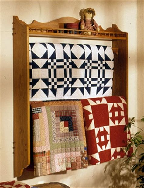 wall mounted quilt rack woodworking plan