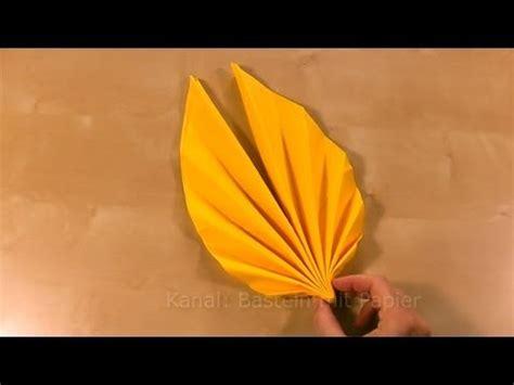 Servietten Falten Herbstlich by Servietten Falten Einfach F 228 Cher Blatt Als Tischdeko