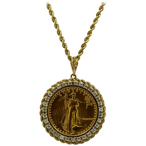 bezel jewelry 50 liberty 1 ounce gold coin pendant with bezel