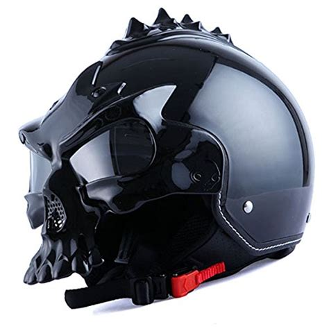 Motorradhelm Totenkopf by 1storm Motorcycle Street Bike Scooter Open Face Helmet 3d