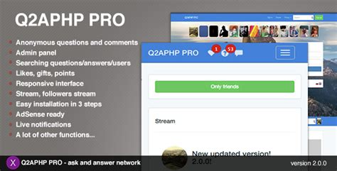 q2aphp pro q a social network by xandrco codecanyon gt gt 20