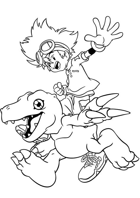 Coloring Page To Print free printable digimon coloring pages for