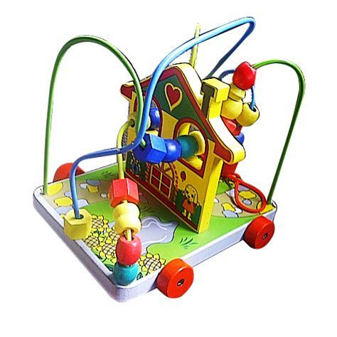 Mainan Alur Kawat Rumah Kelinci alur kawat 3 karakter rumah kelinci mainan kayu