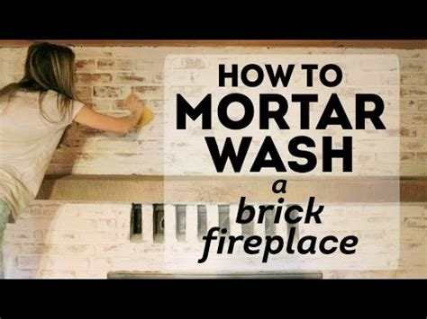 How To Clean Fireplace Brick And Mortar by How To Mortar Wash A Brick Fireplace Cottage House Flip