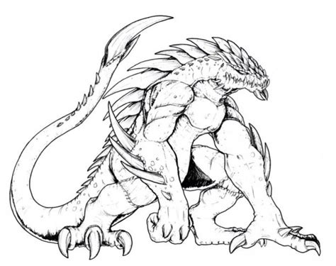 Scary Color Pages free coloring pages of scary monsters