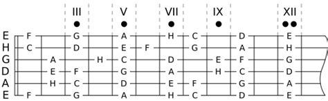 wo liegen die noten auf der gitarre gitarre entstehung der tonleitern wikibooks sammlung